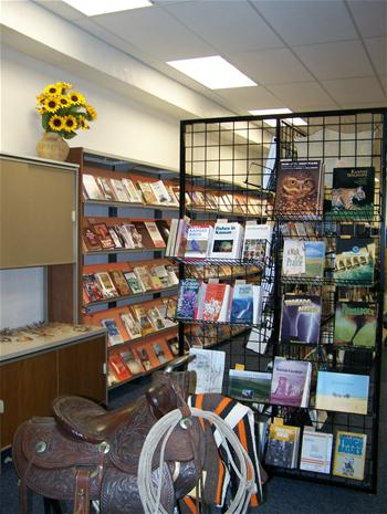 Book display at the Kansas Heritage Center