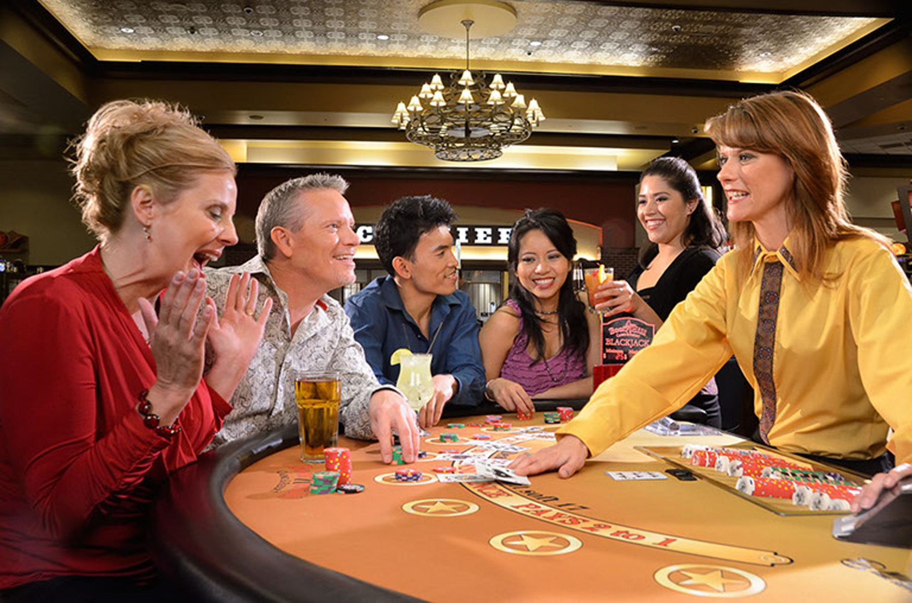 People playing black jack at Boot Hill Casino