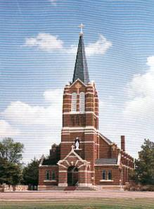 [Photograph: Immaculate Heart of Mary Parish, Windthorst, Kansas, in 2005 photograph.