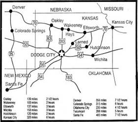 Dodge City Road Map