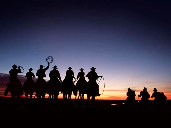iron cowboys sunset