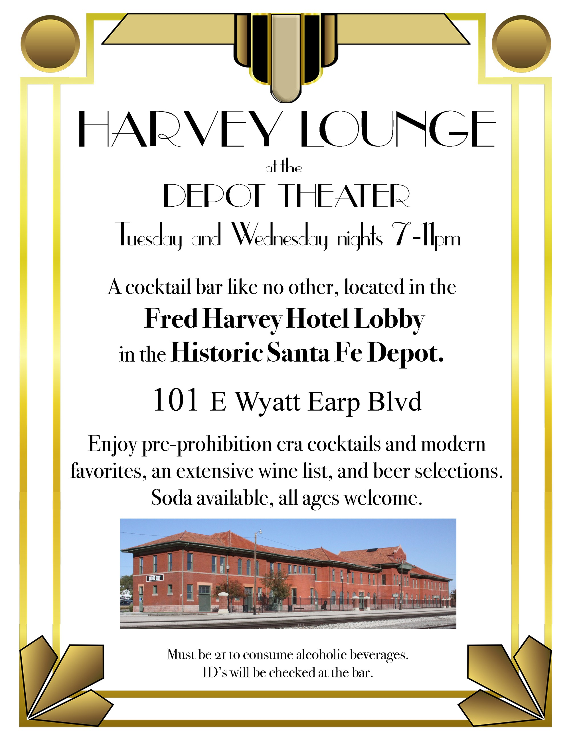 Harvey Bar flier